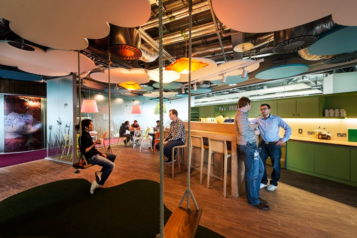 Swings in Google office in Dublin