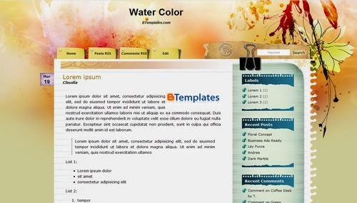 template, blogspot, blogger theme