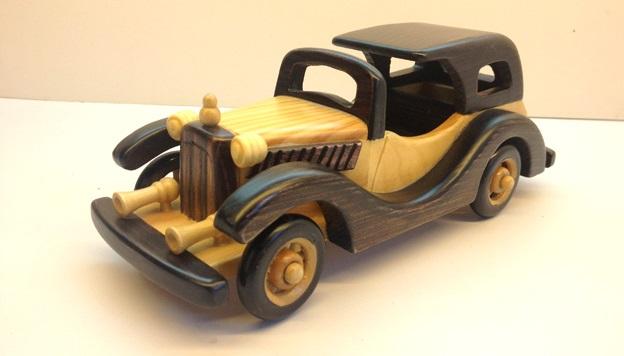 el yapımı klasik otomobil maketi