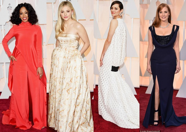 favourites, fails, best, worst, dressed, outfits, style, the oscars, 2015, solange knowles, Christian Siriano, Chloe Moretz, miu miu , Marion Cotillard, Dior Couture, Jessica Chastain, Versace