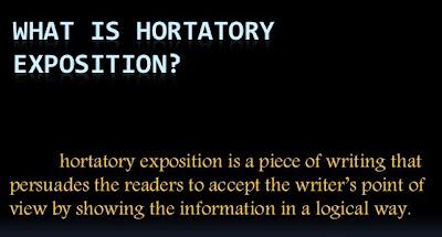 Pengertian hortatory exposition