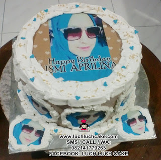 Birthday Cake Dengan Foto Edible Cake