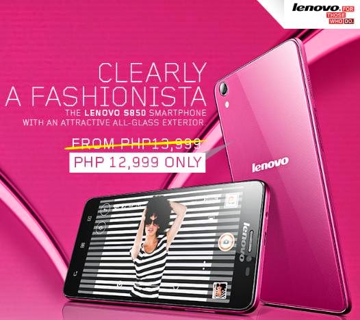 Price Drop! Lenovo A8-50 and S850 at Php1000 Off