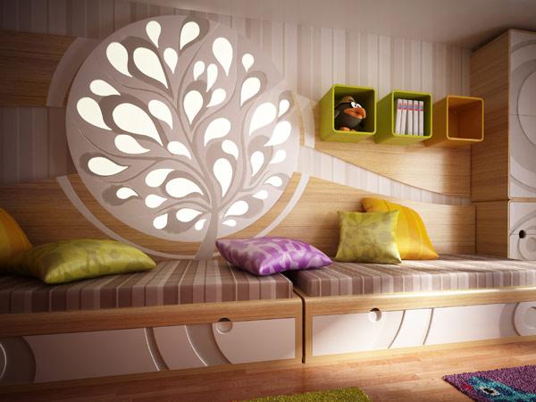 Inilah inspirasi Desain Kamar Tidur Warna Hijau Cerah 2015 yang perfect