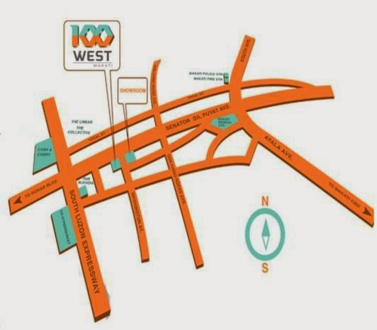 100 West @ Makati Location Map