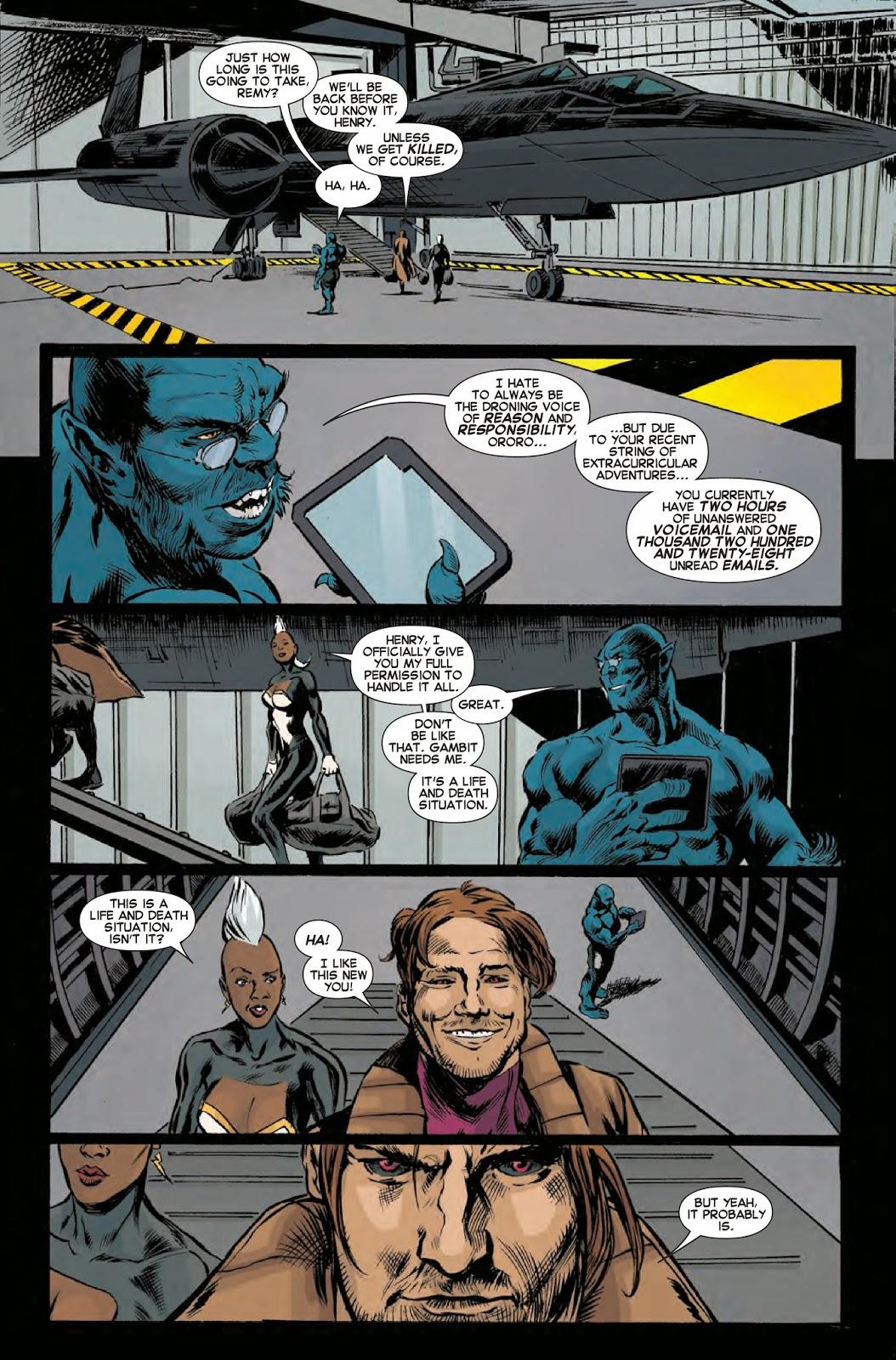 Storm follows Gambit on an X-Men adventure