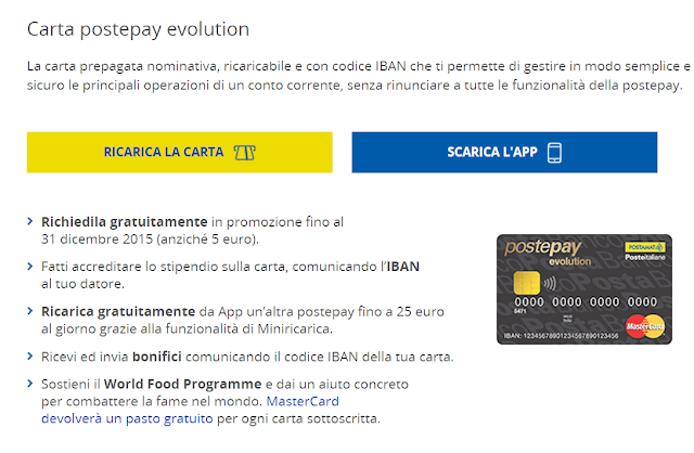 Come aprire la Postepay Evolution