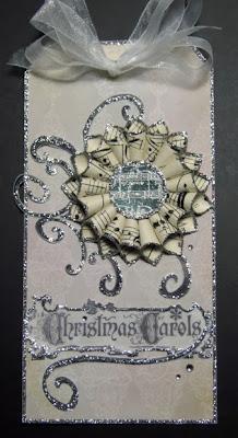 sheet music, christmas, tag