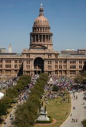 Educators March On Austin...