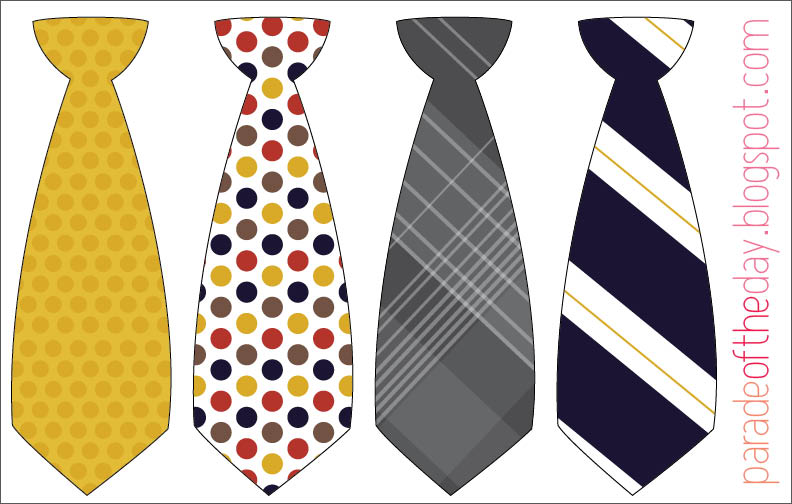 Parade Of The Day Little Man Tie Printable
