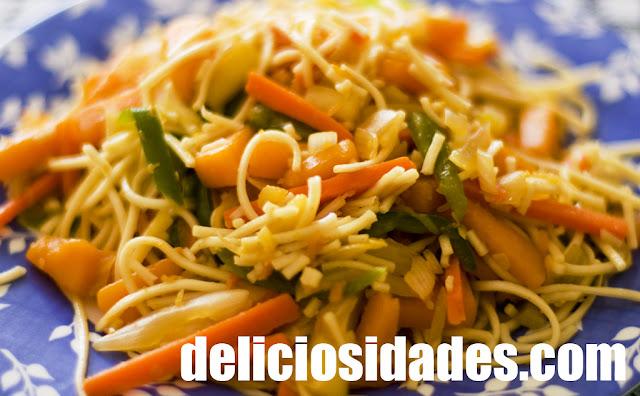 deliciosidades - Wok (improvisado) de hortalizas y calabaza.