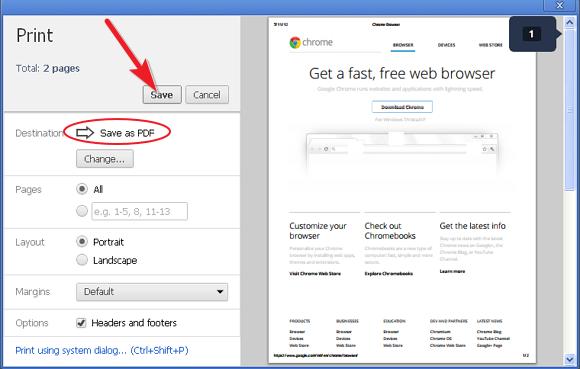 chrome save as pdf resolution