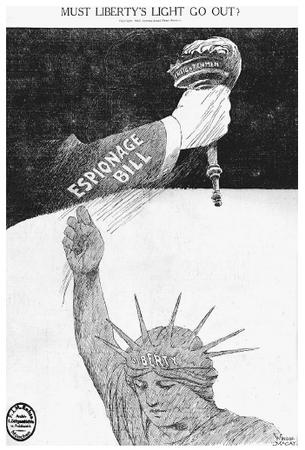 espionage and sedition act In 1917 the united states congress passed the espionage act while involved in   j edgar hoover, used the espionage act and sedition act, passed the year.