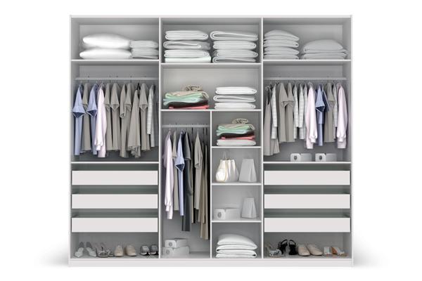 Loja ponto quente roupeiro modelo closet 3 portas e 6 for Modelos de closets