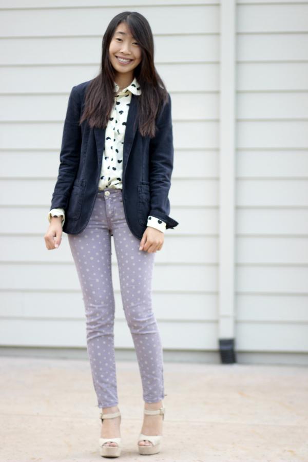 polka dot skinny jeans payless heels