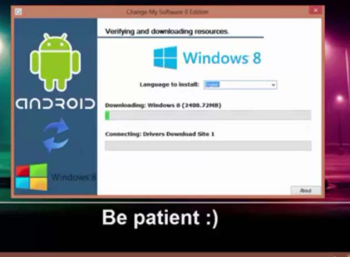 install windows 10 8 1 8 7 xp on android mobile tablet
