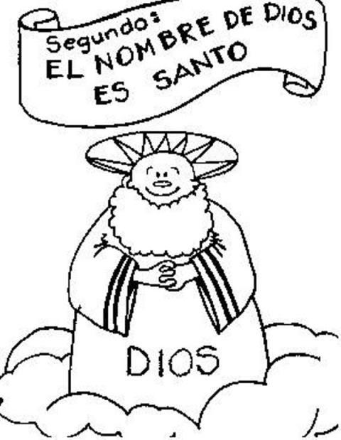 10 mandamiento ilustrado nino:
