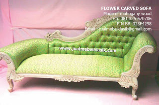 Indonesia classic furniture mahogany wooden sofa sofa white painted carved mahogany