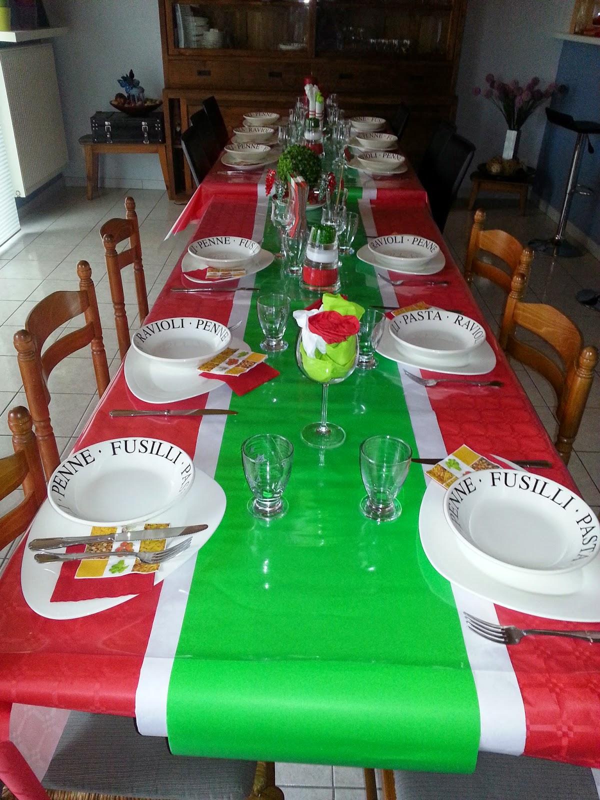 decoration de table a l 39 italienne. Black Bedroom Furniture Sets. Home Design Ideas