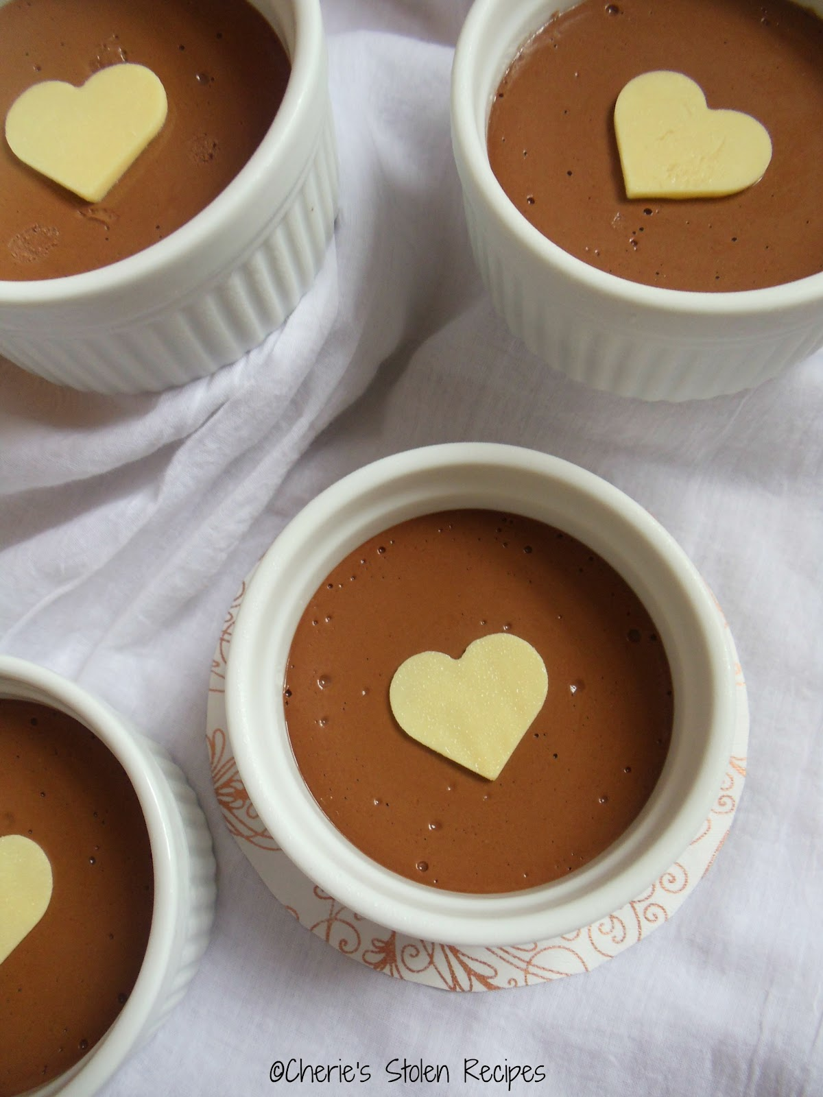 cherie s stolen recipes pots de creme au chocolat baked chocolate custard