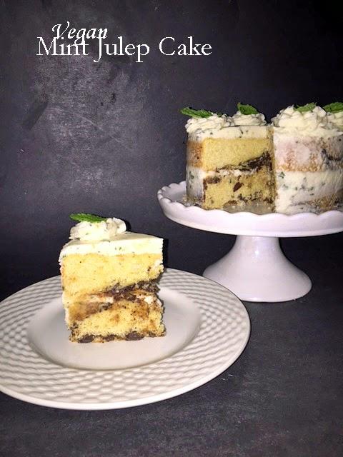 vegan mint julep cake