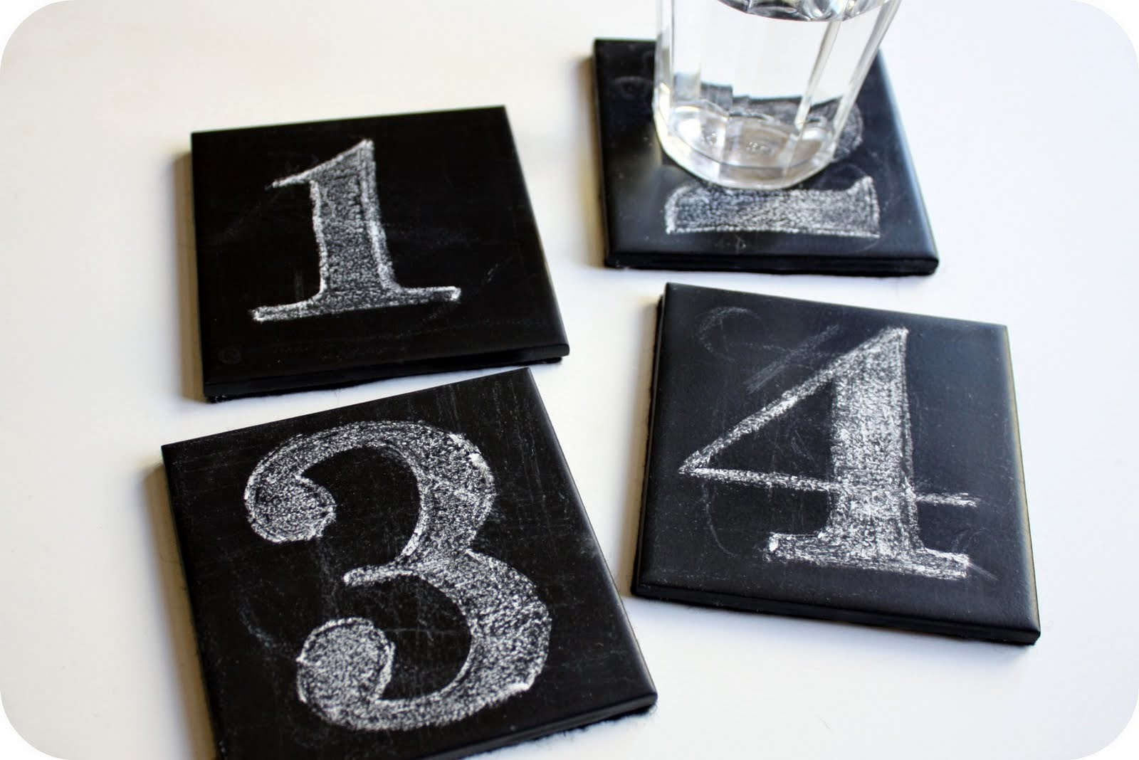 DIY Chalkboard Coasters from Crazy Wonderful - TONS of Chalkboard Paint Tutorials!