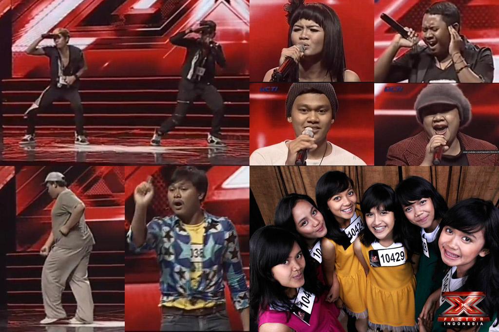 Berbagai Aksi Peserta X Factor Indonesia