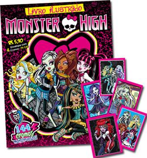 Figurinhas álbum de figurinhas Monster High