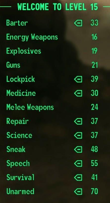 Level 15 stats