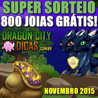 Super Sorteio de 800 Joias Grátis - Novembro 2015