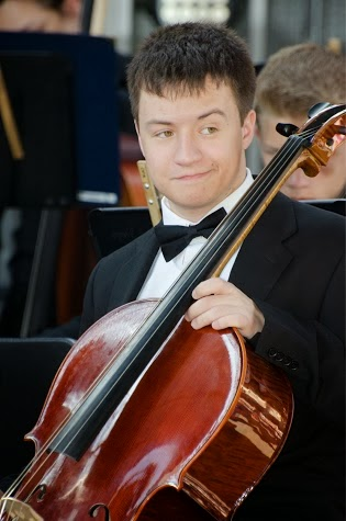 Joshua and his cello.