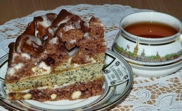 Торт маково-ореховый хаос!