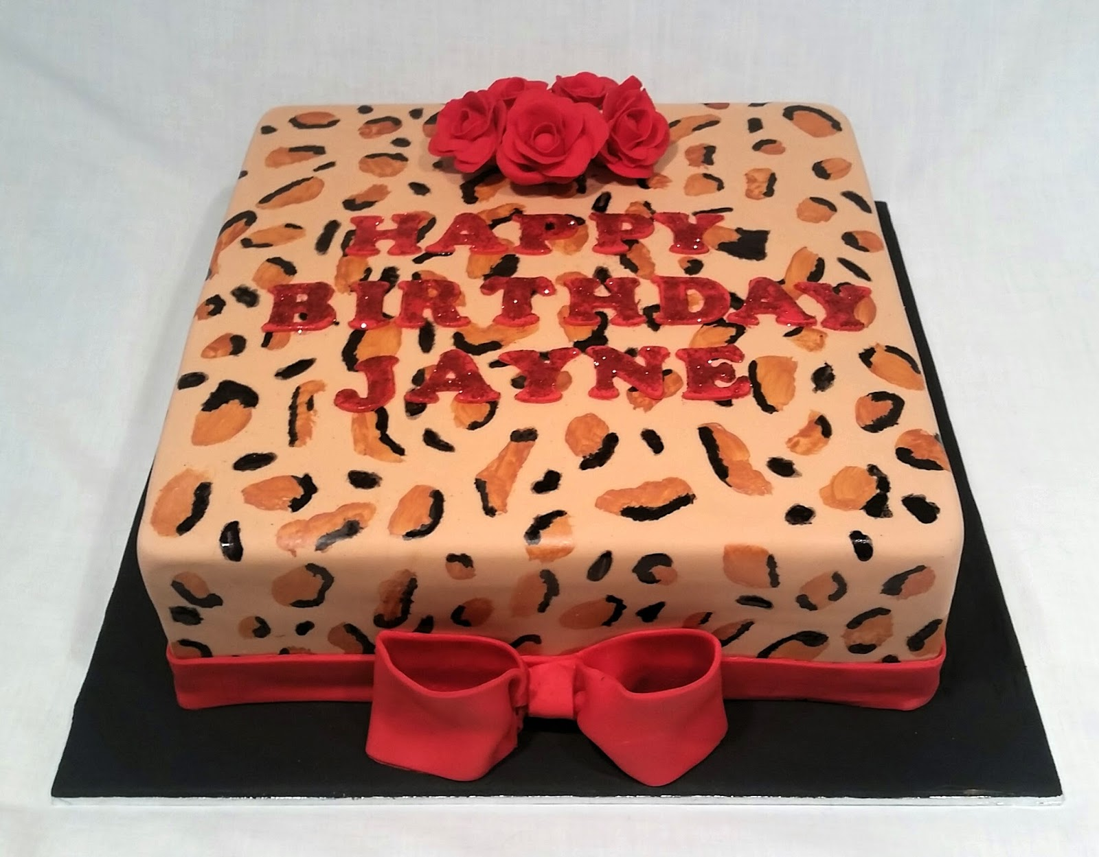 Cakes and Other Delights Leopard Print Birthday Cake