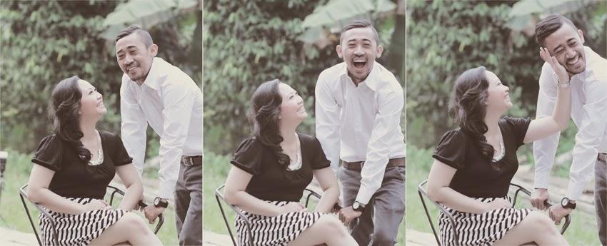 candid pada saat pemotretan pre wedding
