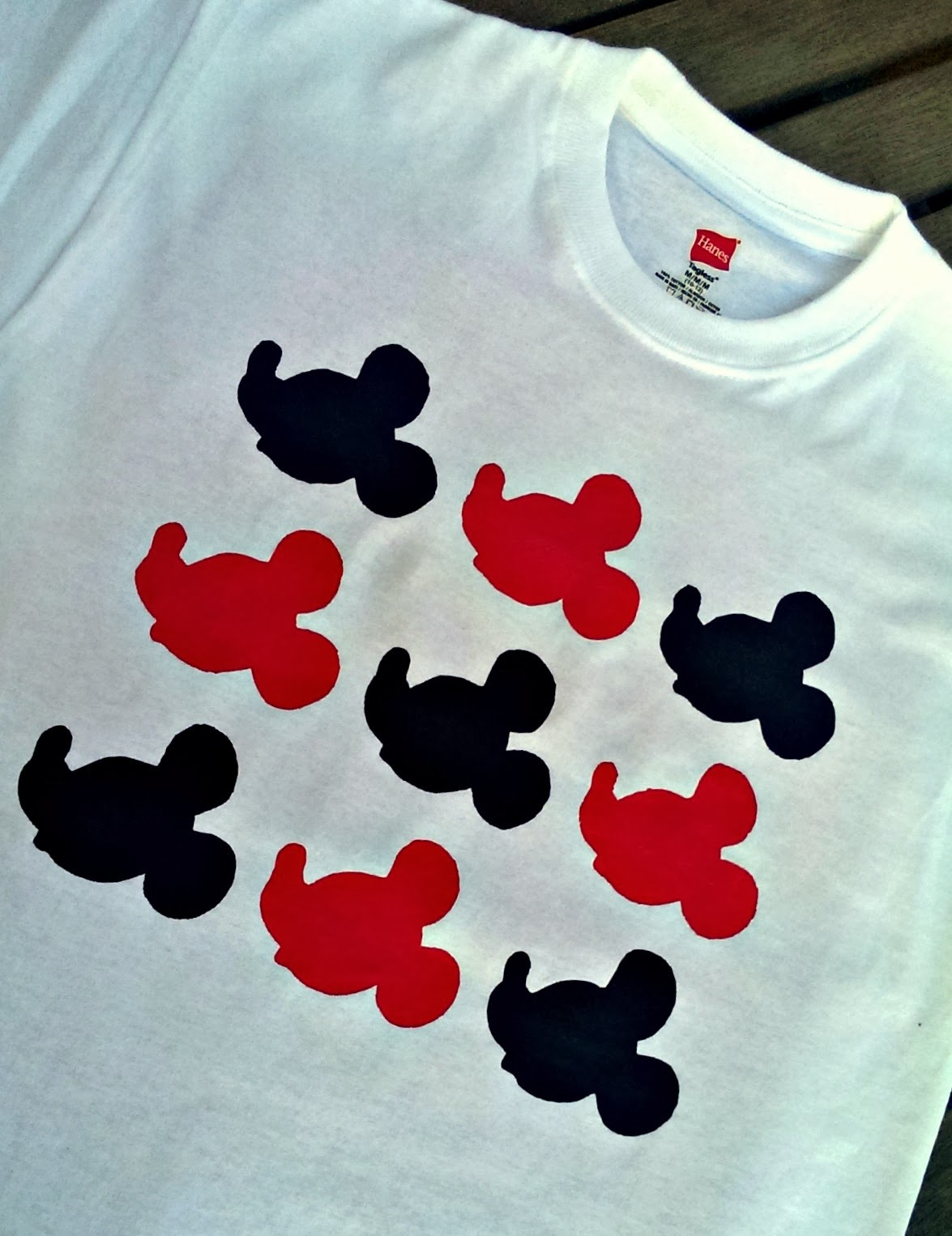 Freezer paper stencil shirts