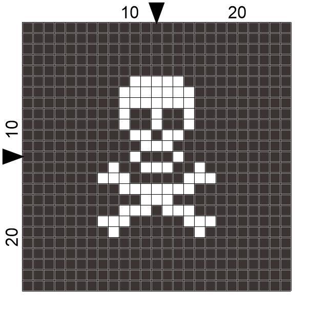 Spre Patterns Design Crochet Skull And Cross Bones Block