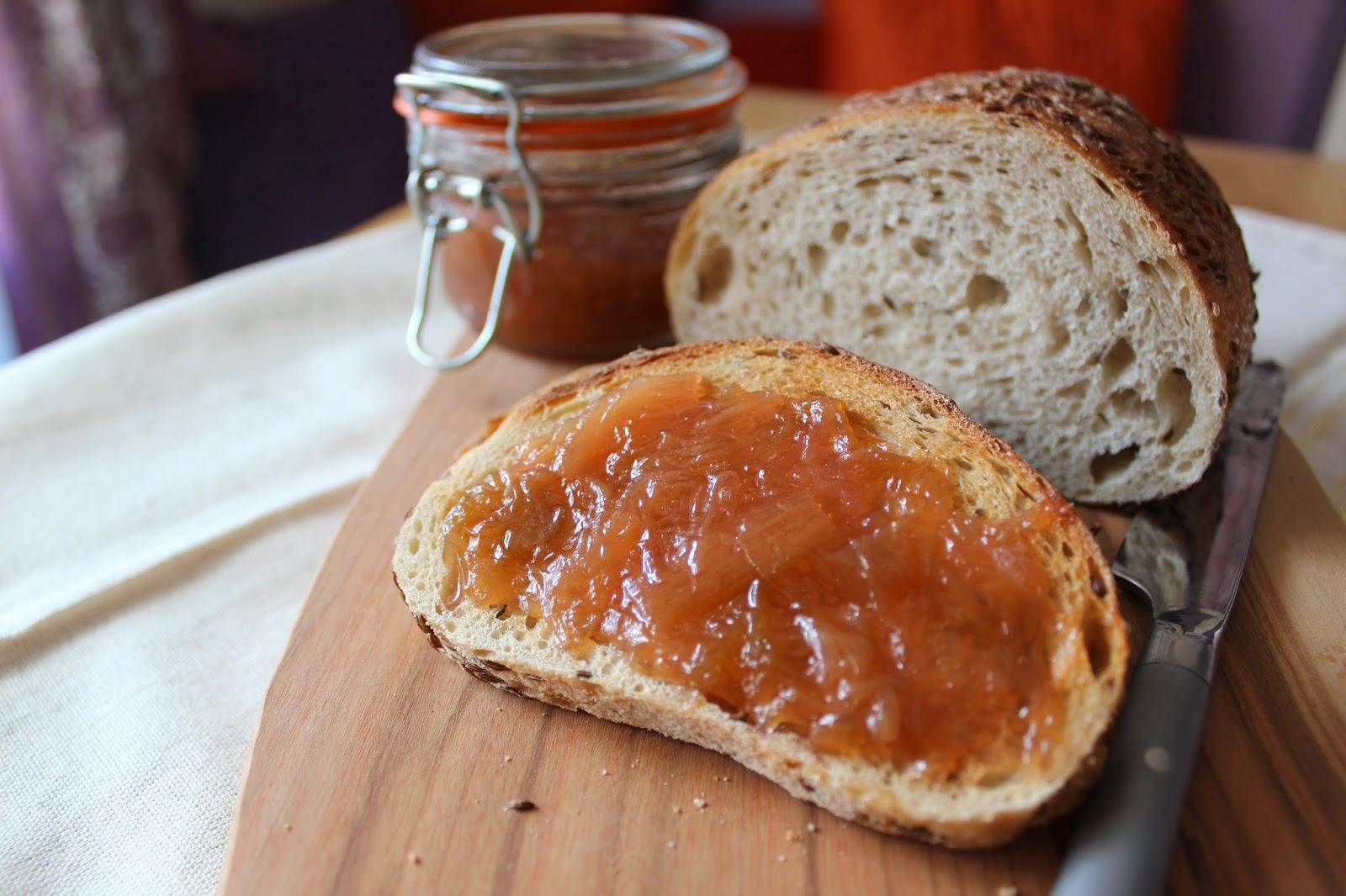 Rhubarb-Ginger Jam // Runaway Apricot