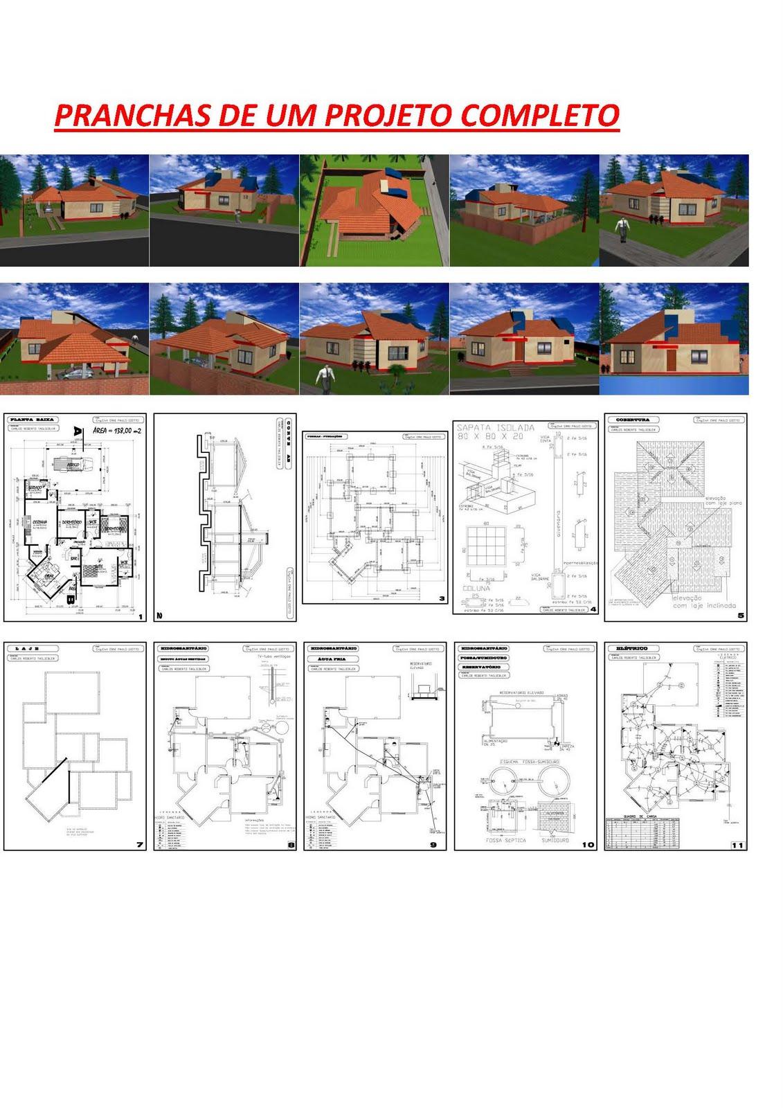Modelos de Planta Baixa - Modelos de Sobrados - Planta de casa