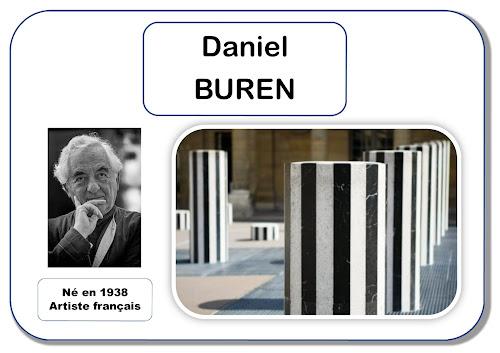 Daniel Buren - portrait d'artiste en maternelle