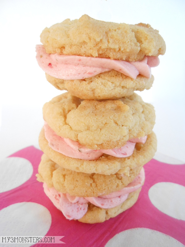 Strawberry Sandwich Cookies at my3monsters.com