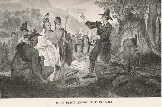 puritans and indians English puritans from massachusetts bay colony and connecticut colony,   those that 'scaped us, fell into the hands of the indians that were in the rear of us.