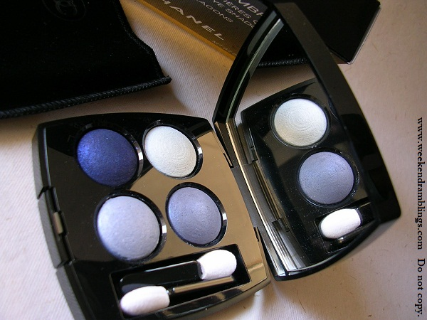 chanel holiday 2011 us quad les 4 ombres lagons eyeshadow 29 blue swatches reviews eotd
