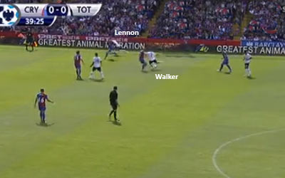 Kyle Walker passes to Aaron Lennon