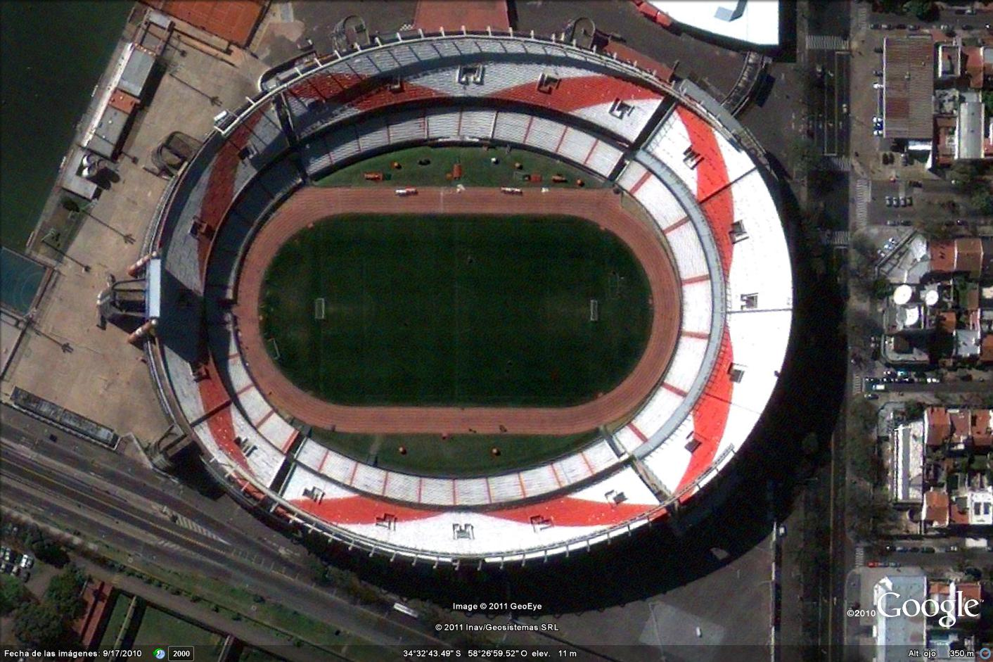 estadios argentinos en google earth  river plate