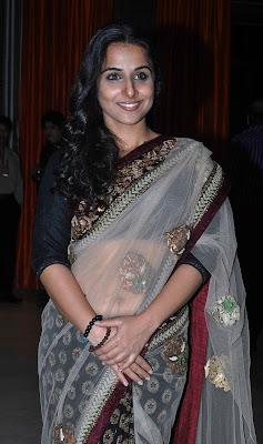 Vidya balan at an event in saree