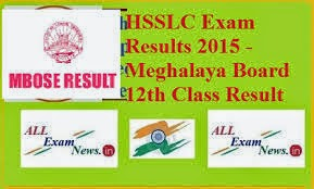 Meghalaya HSSLC Exam Result 2015 – MBOSE 12th class results 2015