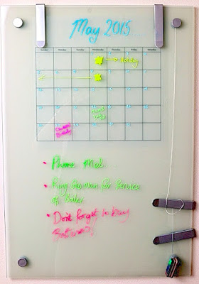 SRM Stickers Blog - Wall Glass Calendar by Cathy - #calendar #chalkboardmakers #fluorescent