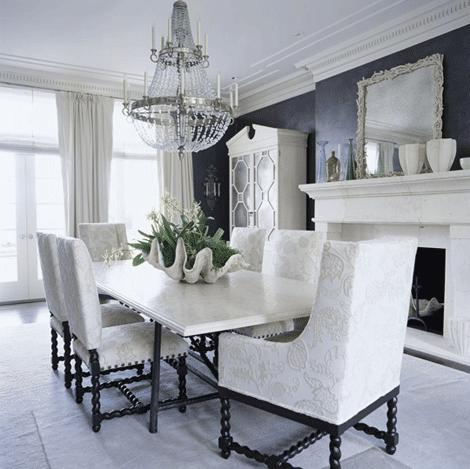 30 ways to rock a crystal chandelier the enchanted home how gorgeous is this silver plate and crystal chandelier in an all white room traditional home aloadofball Images