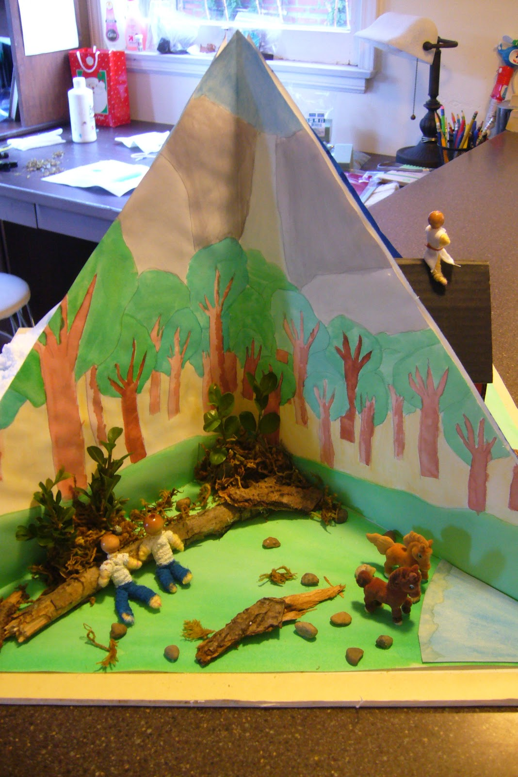 3rd grade book report diorama A fun craft project for the kids or for a book report how to make a diorama 3rd grade project rainforest diorama hot glue gun waterfall.
