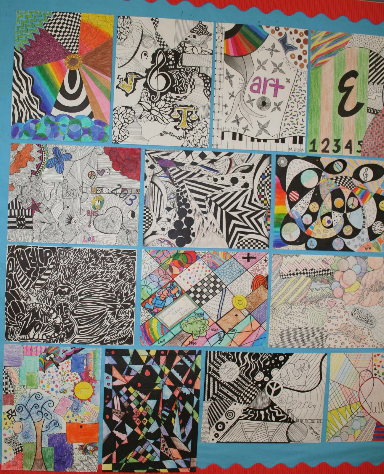 Line Design Art Project : Mrs macre s art class line designs lesson
